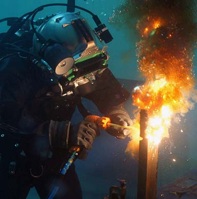 under water welding Prospective students searching for underwater welder: salary, job duties and  requirements found the following resources, articles, links, and information.