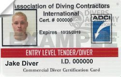 Entry Level Tender/Diver Certification from ADCI