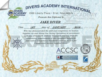 Commercial Diving Certifications ANSI/ACDE from Divers Academy